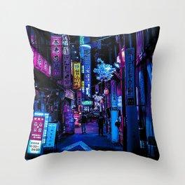 Tokyo Blade Runner Throw Pillow