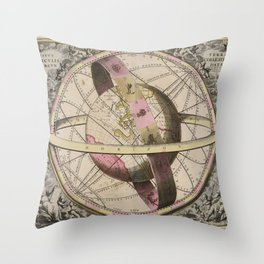 Van Loon - The Earth and Surrounding Heavens, 1708 Throw Pillow