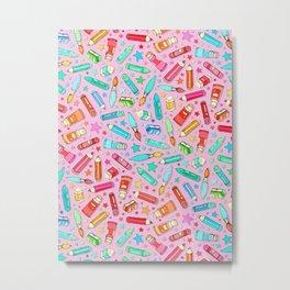 Rainbow Stationary and Art Supplies - Pink Metal Print