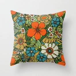 70s Plate Throw Pillow