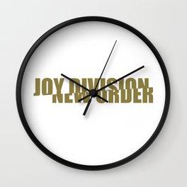 80s music / band logo art / JD/NO Wall Clock