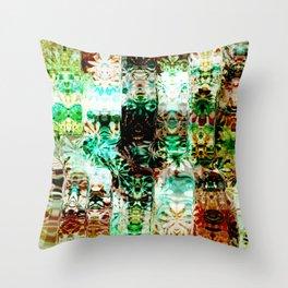 Emerald and Aqua Pattern Design Throw Pillow