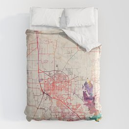 Denton map Texas painting Comforters