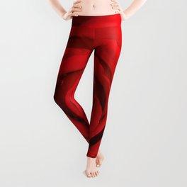 Lovely Red Rose Leggings