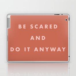 Inspirational Bravery Quote in Terra Cotta Laptop & iPad Skin