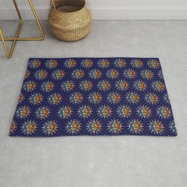 Celestial Mosaic Sun and Moon Rug