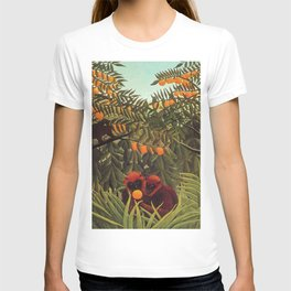 Apes in the Orange Grove by Henri Rousseau 1910 // Colorful Jungle Animal Landscape Scene T-shirt