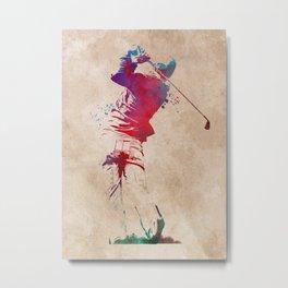 Golf player sport art #golf #sport Metal Print
