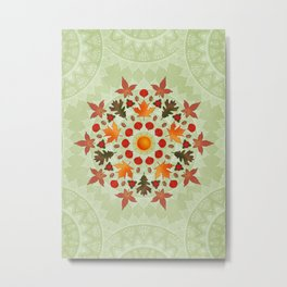 Autumn Mandala Metal Print
