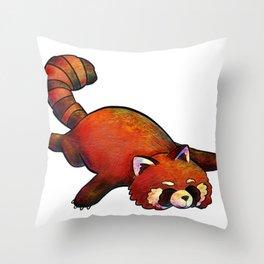Sleeping Red Panda Throw Pillow
