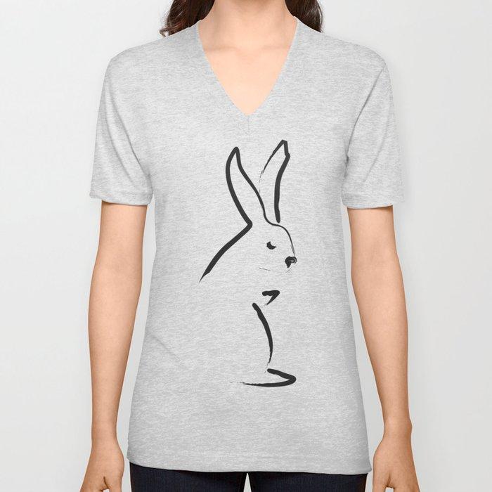 Zen Snow Bunny Unisex V-Neck