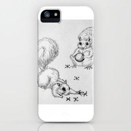 """Squirrels and Jax""  Squirrel sketch iPhone Case"