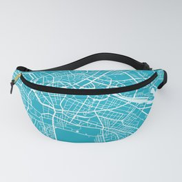 Berlin Map Germany | Blue II | More Colors, Review My Collections Fanny Pack