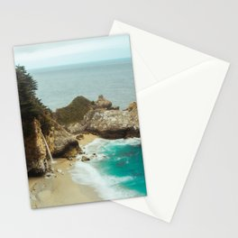 McWay Falls | Big Sur California Waterfall Ocean Coastal Travel Photography Stationery Cards