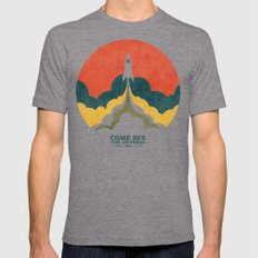 Come See The Universe Tri-Grey MEDIUM Mens Fitted Tee
