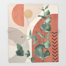 Nature Geometry IV Throw Blanket