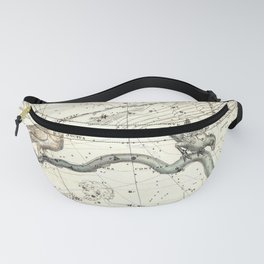 Corvus, Noctua, Hydra Constellations Plate 27, Alexander Jamieson Fanny Pack