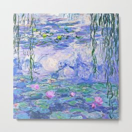 Claude Monet Water Lilies French Impressionist Art Metal Print