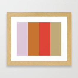 LOVE: L(avender) O(chre) V(ermilion) E(cru) Framed Art Print