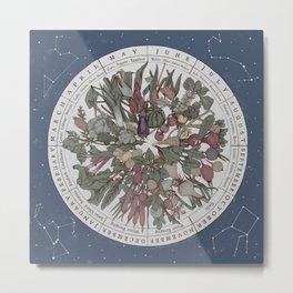 Seasonal Planting Calendar Metal Print