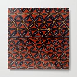 Tropical Tribal Tapa Metal Print