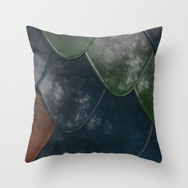 Pattern of colorful rounded roof tiles Throw Pillow
