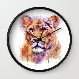 Lioness Head Wall Clock