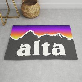 Alta Utah Ski Skiing Deer Valley Park City Trail Map Mountain Rug