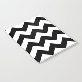 BLACK AND WHITE CHEVRON PATTERN - THICK LINED ZIG ZAG Notebook