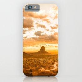 Southwest Wanderlust - Monument Valley Sunrise Nature Photography iPhone Case