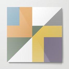 Geometric Trendy Abstract Modern Art Design Metal Print
