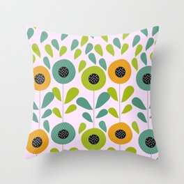 Cheery spring flowers Throw Pillow