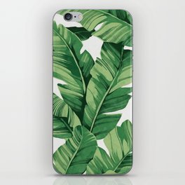 Tropical banana leaves iPhone Skin