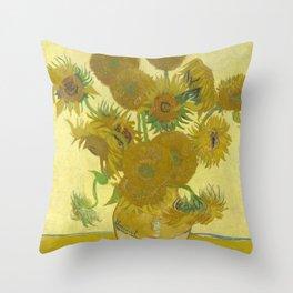 Sunflowers (Vincent Van Gogh series) Throw Pillow