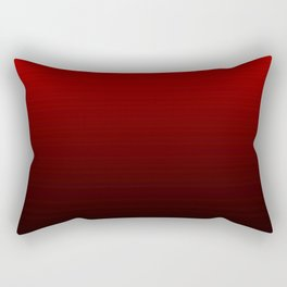 Red and Black Gradient Rectangular Pillow
