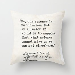 Sigmund Freud The Future of an Illusion Throw Pillow
