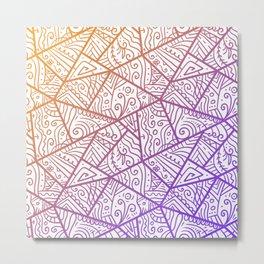 Picasso-Like Avant-Garde Line Art Pattern Metal Print