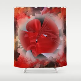 red polynomial flower -2- Shower Curtain
