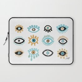 Evil Eye Illustration Laptop Sleeve