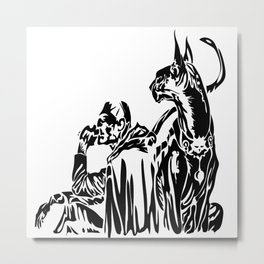 Freelancer & his sidekick Metal Print