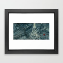 Red and the Empire State Building Framed Art Print