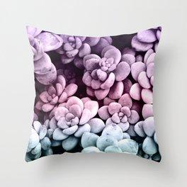 Dreamy Succulents #1 #pastel #decor #art #society6 Throw Pillow