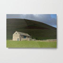 Rural peak district farm building landscape Metal Print