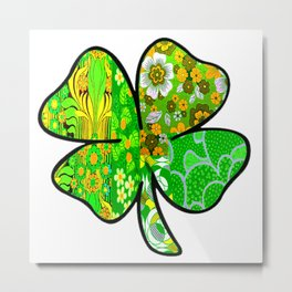 Retro Shamrock Metal Print