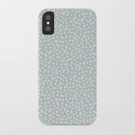 SILVER STARS CONFETTI iPhone Case