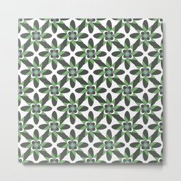 Retro Funky Spring in Green Vintage Colored Palette Metal Print