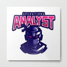 Ninja Operations Analyst Metal Print