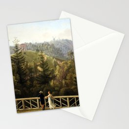 Ludwig Philipp Strack View from Baurs Hamburg Stationery Cards