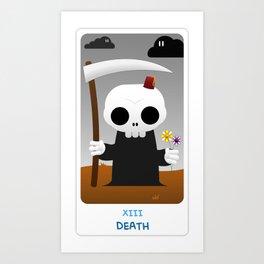 The Chibi Tarot - XIII Death Art Print