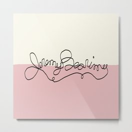 Jeremy Bearimy Color Block Metal Print